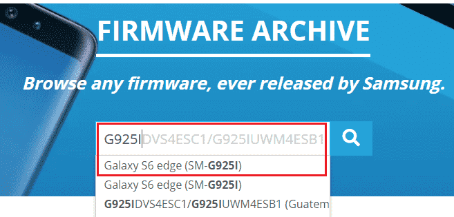 Find correct Firmware for Samsung